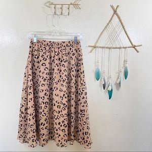 A NEW DAY | Animal Print Skirt